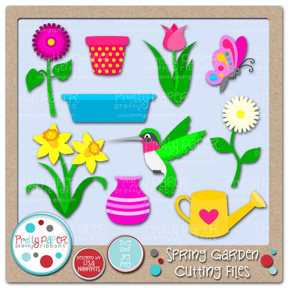Spring Fling Cutting Files & Clip Art - Instant Download
