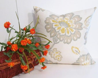 Thibaut Fabric Designer Floral  Decorative Accent Pillow Cover Handmade in the USA Ready to Ship