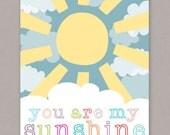 "PRINTABLE 8x10 ""You Are My Sunshine"" Poster - PDF Digital File"
