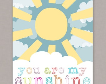 "PRINTABLE 8x10 ""You Are My Sunshine"" Poster - PDF Digital File"