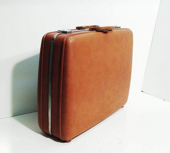 American Tourister 50s Vintage Brown Suitcase Luggage