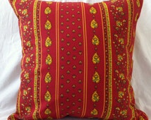RED COUNTRY FRENCH Traditional Provencal Pillow Cover (1243)