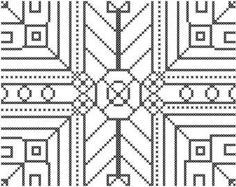 Geometric Cross Stitch Pattern/Cross Stitch Pattern Geometric Design/Cross Stitch Pattern/Geometric Design/Modern Cross Stitch Pattern/PDF
