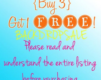Photography Backdrops - buy 3, get 1 FREE (Pay only for the shipping) PLEASE read entire listing