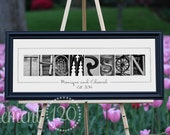 Alphabet Art Photography - Anniversary, Wedding or Bridal Shower Gift, Classic 10x26 Frame