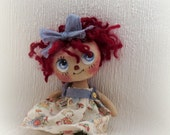 Lil Raggedy Ann cloth doll - suziehayward