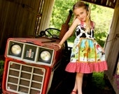 Farmer's Daughter- Girls Knot Style Dress.............The Princess in Pigtails Designs