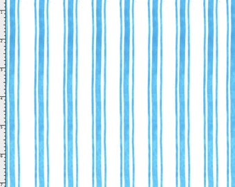 Awning Stripe Turquoise Fabric Yard by Loralie