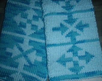 Arrow Double Knit Scarf Pattern