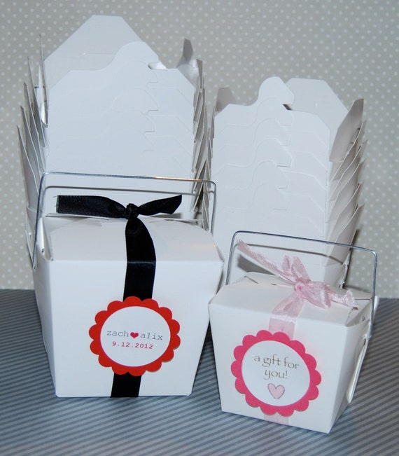 Party Favor Chinese Take Out Boxes : Take out boxes party box white pint size by