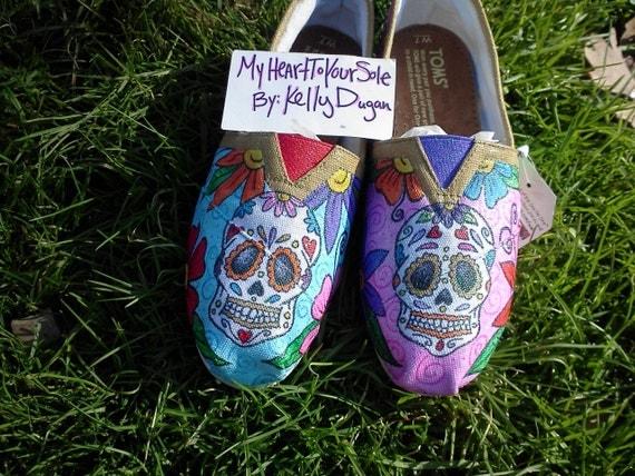 Price includes shoes. Dia De Los Muertos by MyHeartToYourSole