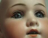 1800's Antique German Bisque Doll Heubach Koppelsdorf 250-3 sleep eyes & teeth