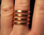 Wire Wrapped Flat Four Band Ring MADE to ORDER