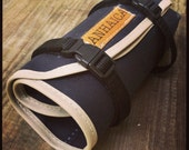 Waxed Canvas Bicycle Accessory Tool Roll, Tool Pouch, Bicycle Saddle bag