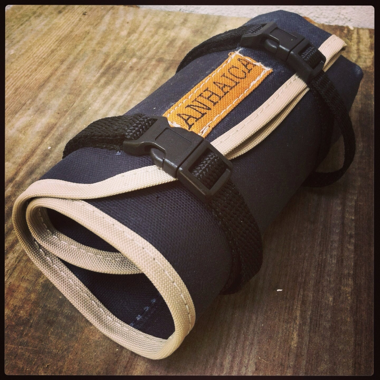Bicycle Tool Bag : Waxed canvas bicycle accessory tool roll pouch