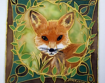 Fox totem Mandala art, animal guide,spiritual gift, Shamanic art, meditation art, mandala art,animal totems, fox art, silk art,pagan, wiccan