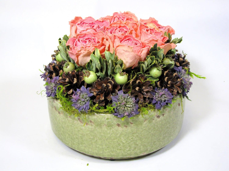 contemporary dried floral arrangement modern floral. Black Bedroom Furniture Sets. Home Design Ideas