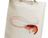 Red Shrimp Eco Friendly Canvas Tote Bag (isl024)