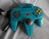 CUSTOM ice-blue N64 controller Nintendo