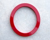 Modern House Number Aluminum Modern Font Number ZERO  0 in RED