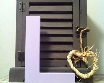 Freestanding Wooden Wedding Letter 'L' - 15cm - Ariel Style Font