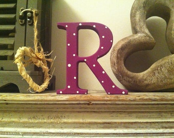 Decorative Freestanding Letter 'R' - Various Finishes - 10cm - various colours and finishes