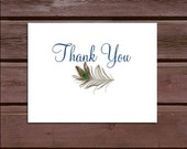 75 Peacock Feathers Wedding Thank You Notes
