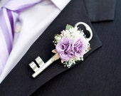 Large Skeleton Key Boutonniere