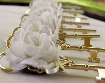 Key To Your Heart Boutonniere in Ivory