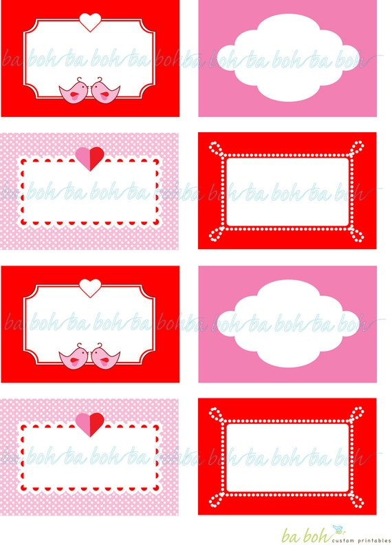items similar to love birds valentine s day printable blank labels