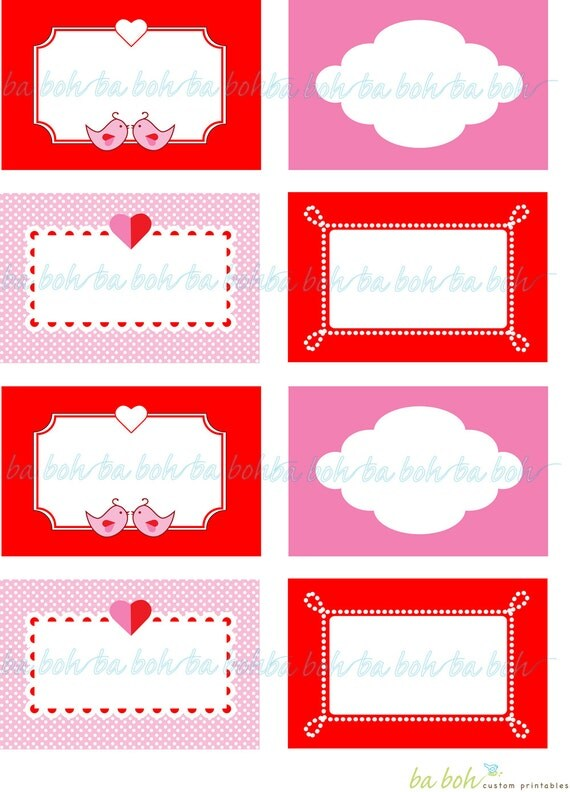 Monster image for valentine labels printable