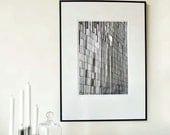 "Large Black&White Fine Art Photo Europe - Abstact Modern Architectural - Textured Wall - 30cmx45cm /12""x18"" Size (Can also be custom sizes)"