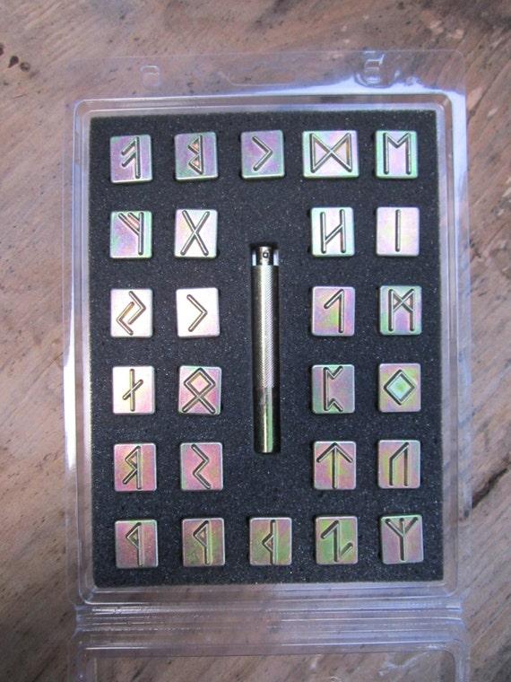 Craftool Rune Stamp Set Rare Leathercraft By
