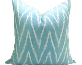 Kasari ikat pillow cover in Turquoise - 20 x 20