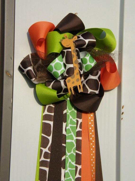 Giraffe Corsage Baby Shower Corsage Safari Baby Shower By