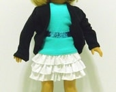 """Maryella Ruffled Skirt for American Girl, Bitty Baby and other 18"""" Dolls"""