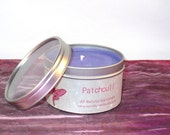 Patchouli Soy Candle -- 8 oz Tin