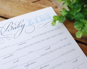 PRINTABLE FILE Baby Libs, Baby Shower Mad Libs