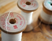 Vintage Spools of Thread - White Collection