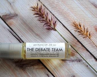 The Debate Team Cologne Oil, Roll On Perfume Sandalwood, Vanilla, Lavender, Citrus, Unisex