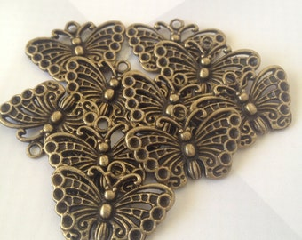Bronze butterfly - 10 pieces