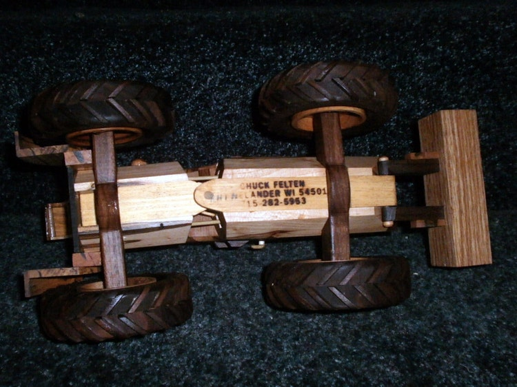 Wooden Toy Log Skidder : Deluxe log skidder handcrafted wooden by wisconsinwoodchuck