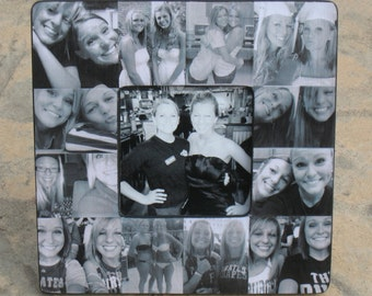 unique graduation gift best friends photo collage frame personalized sister gift maid of honor gift custom collage bridesmaid frame