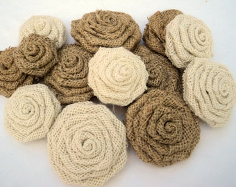 Rustic Wedding Decorations 25 Burlap Roses Burlap Flowers