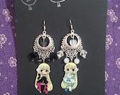 Chobits Clamp Earrings - Fan Made - Chii and Freya