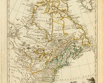 1776 Map of the US and Canada