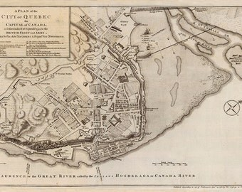 1759 Map of Quebec