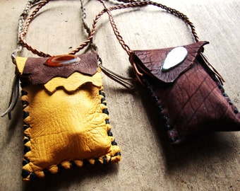 Sacred medicine pouch filled to the brim with goodies