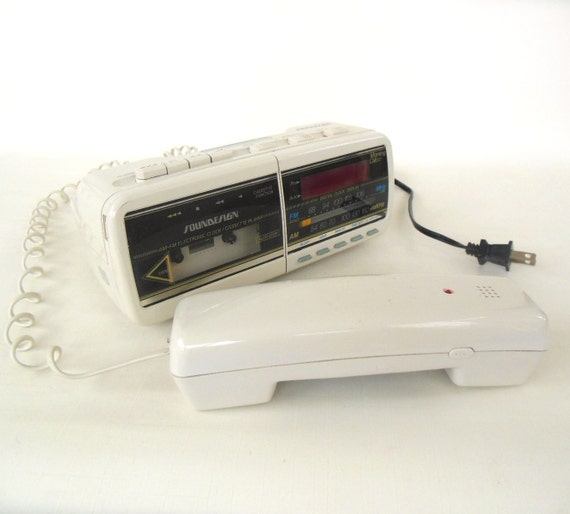 cassette alarm clock radio phone soundesign 80s electronics. Black Bedroom Furniture Sets. Home Design Ideas