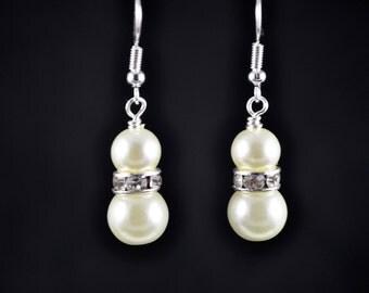 Bridal Earrings - Bridesmaid Earrings - Mother of The Bride Earrings - Prom Earrings